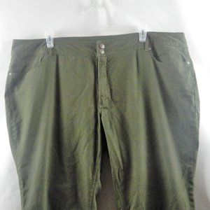 Avenue Green Stretch Straight Casual Zip Pants NWT